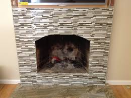 neptuno gold hearth with escorial blend linear glass mosaic with
