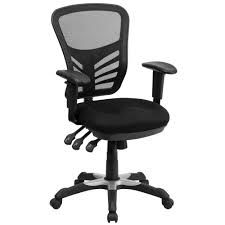 flash furniture mid back mesh swivel task chair with triple
