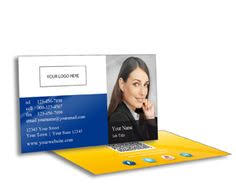 Business Cards Next Day Delivery Real Estate White Background W Blue Border U2013 Portrait Standard
