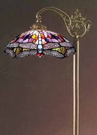 Stained Glass Floor Lamp Tiffany Style Stained Glass Floor Bridge Lamp Overstock Stuff To