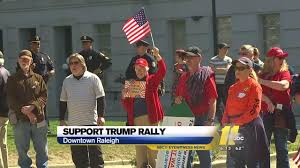 Raleigh Flag President Trump Supporters Rally In Raleigh Abc11 Com