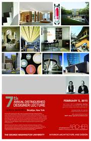 annual distinguished designer lectures interior architecture