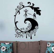 online get cheap wall stickers home decor nightmare aliexpress the nightmare before christmas wall sticker halloween vinyl decal retro movie poster dorm bar club home