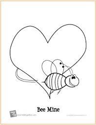 bee valentine u0027s free printable coloring