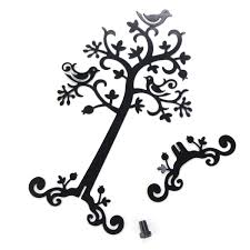 jewelry birds metal tree necklace earring display stand holder
