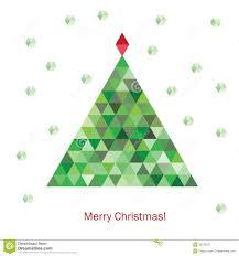 colorful geometric christmas tree royalty free stock photography