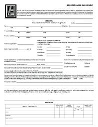 Resume Print Out Free Printable Aldi Job Application Form