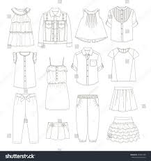 girls clothes sketches stock vector 492681388 shutterstock