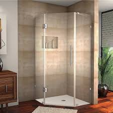 40 Inch Shower Door Aston Neoscape 40 In X 40 In 72 In Completely Frameless Neo Angle