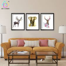 nordic decoration nordic decoration elephant deer head flower paintings on canvas