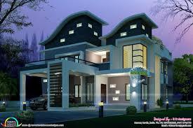 ultra modern wavy roof home plan kerala home design bloglovin u0027