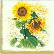 decoupage paper napkins of sunflowers chiarotino