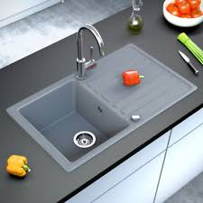 lavelli granito rubinetteria e lavelli da cucina grigio ebay