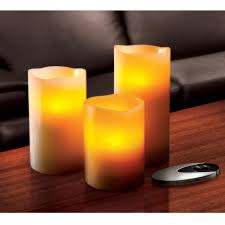 Electric Candles For Windows Decor Decorating Sarah Peyton 3 Piece Led Flameless Candles With Timer