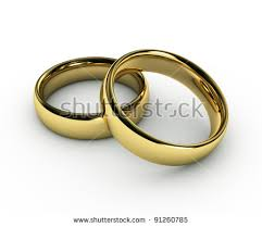 wedding gold rings gold wedding rings on white stock illustration 108806891