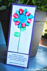 Mother S Day Flower Mothers Day Flower Poem Finger Print Mothers Day Flower Poem