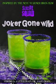 a cocktail inspired by squad the joker gone wild