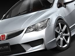 honda civic type r sedan 2008 3d model