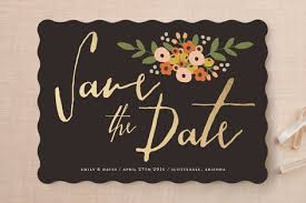 save the date cards cheap modern floral save the date cards by august and oak