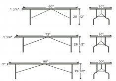 standard party table size standard party table size home design