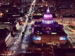 sf city hall lights here s san francisco city hall lit up like the transgender flag
