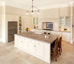 travertine floor white cabinets travertine countertops white