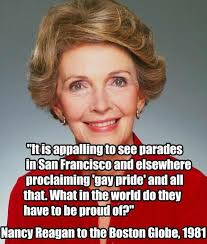 Anti Gay Meme - fact check nancy reagan on gay pride