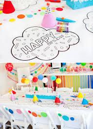 a modern rainbow art party kids birthday hostess with the