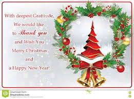 card for new year thank you business greeting card for new year stock illustration