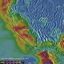 rainfall totals map nasa observes rainfall southern california nasa