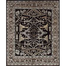 Jules Area Rug Ecarpetgallery One Of A Jules Ushak Knotted Black Area