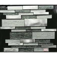 Aluminum Glass Tiles For Kitchen Backsplash Stainless Steel Mosaic - Aluminum backsplash