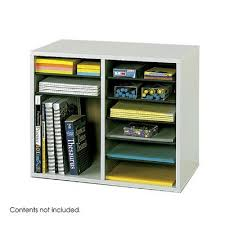 College Desk Organization by Safco Products Gray Wood Adjustable Literature Organizer 12