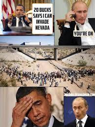 Obama Putin Meme - american freedom by barbara obama putin bet on invading nevada
