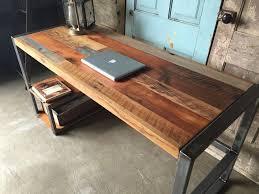 Diy Reclaimed Wood Desk Weathered Reclaimed Wood Desks Wood Desk Throughout Reclaimed Wood