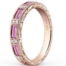 kirk kara wedding band kirk kara pink sapphire baguette wedding ring