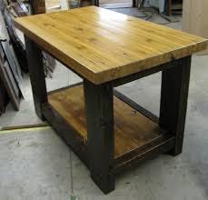 wood butcher block table sold handmade butcher block table with shelf j l pinterest