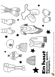 Coloriage bonnet gants echarpes sur Hugolescargotcom