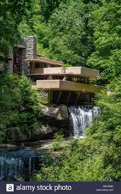 frank lloyd wright waterfall fallingwater or the kaufmann residence is a house designed by