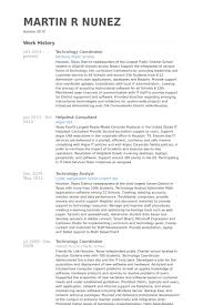Sample Resume Consultant by Technology Coordinator Resume Samples Visualcv Resume Samples