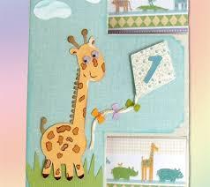 project center baby u0027s first birthday giraffe shutter card
