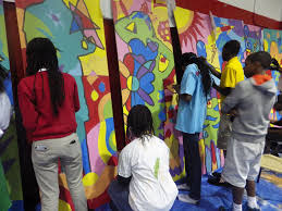 club teens help paint huge murals for bill bailey community center on september 29th our teens helped paint mural panels to be installed on the bill bailey community center s south wall at 1101 dr martin luther king jr