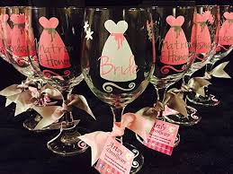 wine glass party favor bridal party wine glasses bridal party gift