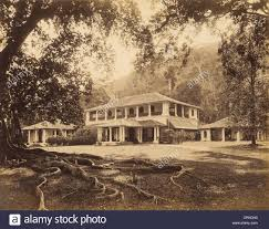 spectacular tropical style colonial plantation house stock photo