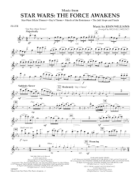music from star wars the force awakens flute sheet music at