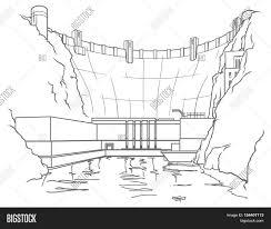 outline illustration hydroelectric image u0026 photo bigstock