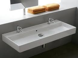 Double Trough Sink Bathroom Bathroom Awesome Sinks Amazing Trough With Two Faucets Double Sink