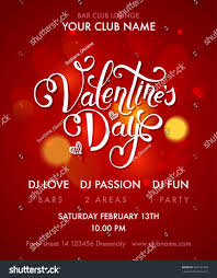 valentines day cocktail party flyer blurred stock vector 551936182