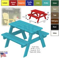 wooden childrens picnic table order polywood kids collection picnic table from shop nc com