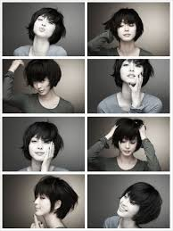 from pixie cut to bob with extensions claudia synthetic heat resistant clip in hair bang fringe extensions